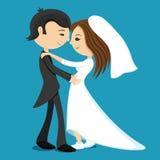 Groom hugs bride. Stock Images