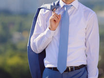 Groom with Jacket Royalty Free Stock Images