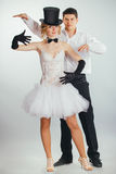 Groom lifts in arms blonde bride Stock Photo