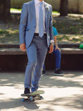 Groom and Longboard Royalty Free Stock Photo