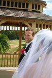 Groom looking at Bride Royalty Free Stock Photography