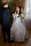 Groom meets bride Stock Photography