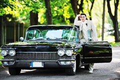 Groom  near  car Royalty Free Stock Photos