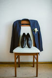 Groom outfit. In important day everything must be perfect Royalty Free Stock Photos
