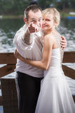 The groom points to you royalty free stock image