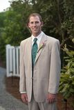 Groom Posing on His Wedding Day Royalty Free Stock Image