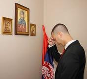 Groom prayer Stock Image