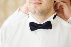 Groom is preparing Royalty Free Stock Photography