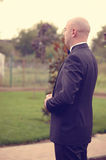 Groom preparing to meet his bride Royalty Free Stock Photos