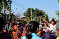 The Groom procession at native wedding culture in Buriram Thailand Royalty Free Stock Image