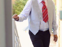 Groom with Red Tie Stock Photography