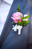 Groom's boutonniere Stock Photos