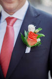 Groom's boutonniere Stock Image