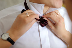 Groom's Bow Tie Stock Photos