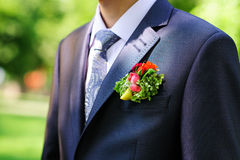Groom's buttonhole Royalty Free Stock Photo