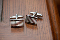 Groom's cufflinks Royalty Free Stock Photos