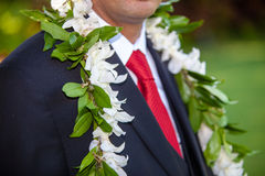 Groom's flowers Royalty Free Stock Photo