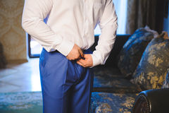 Groom's Preparation Royalty Free Stock Images