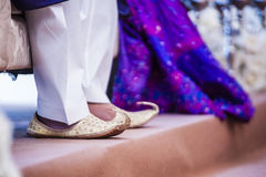 Groom's Shoes. View of a grooms shoe for his wedding day Royalty Free Stock Photo