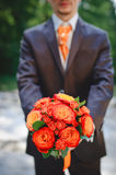 Grooms suit Stock Photos