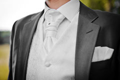 Grooms suit Stock Photography