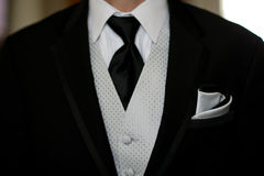 Groom's tuxedo close up Royalty Free Stock Photos