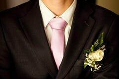 Groom's wedding suit stock images