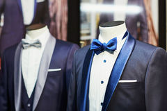 Groom's wedding suit with bow tie Stock Image