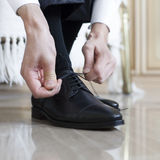 Groom shoes royalty free stock photo