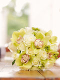 Groom Showing Bouquet Royalty Free Stock Image