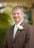 Groom Smiling on His Wedding Day Royalty Free Stock Images