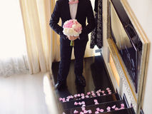 Groom at Stairs Stock Photos