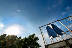 Groom suit hanged Royalty Free Stock Photo