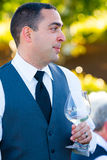 Groom During Toasts Stock Image