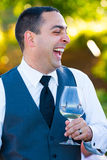Groom During Toasts Stock Photography