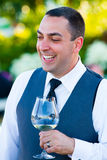 Groom During Toasts Stock Photos