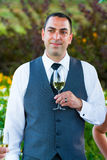 Groom During Toasts Royalty Free Stock Image
