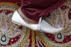 Groom with traditional footwear Stock Image