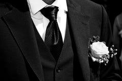 Groom with tuxedo stock image