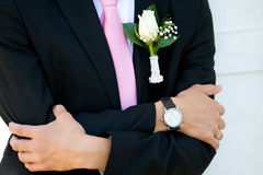 Groom is waiting Royalty Free Stock Images