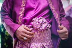 Groom Wearing Songket Stock Image
