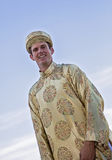 Groom wearing Vietnamese Ao Dai Royalty Free Stock Image