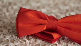 The groom wears for a wedding stock video footage