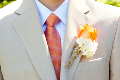 Groom Wedding Attire Stock Photo