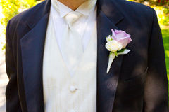 Groom Wedding Day Attire. Wedding attire worn by the groom on his big day Stock Photography