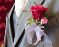 Groom wedding flower Stock Image
