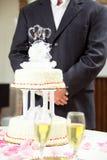 Groom at Wedding Reception Stock Photos