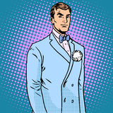 The groom in a wedding suit Royalty Free Stock Image