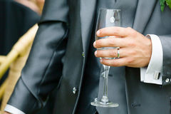 man drinking aperitif Royalty Free Stock Images