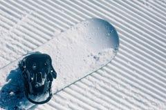 Groomed empty ski piste background Stock Photography